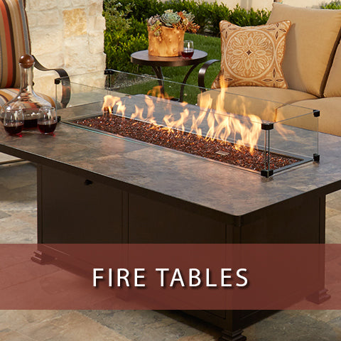Fire tables at Jacobs Custom Living