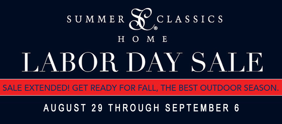 Summer Classics Labor Day Sale at Jacobs Custom Living