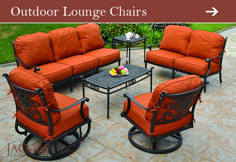 Outdoor Lounge Chairs at Jacobs Custom Living