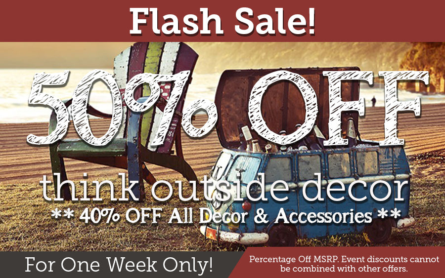 50% off all Think Outside decor and coolers