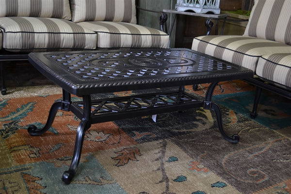"Grand Terrace 24"" X 42"" Outdoor Patio Coffee Table - Outdoor Furniture, Indoor Furniture & Upholstery Store Spokane - Jacobs Custom Living"