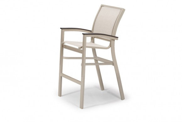 Bazza Bar Height Outdoor Patio Stacking Cafe Chair w/MGP Color Accents - Outdoor Furniture, Indoor Furniture & Upholstery Store Spokane - Jacobs Custom Living