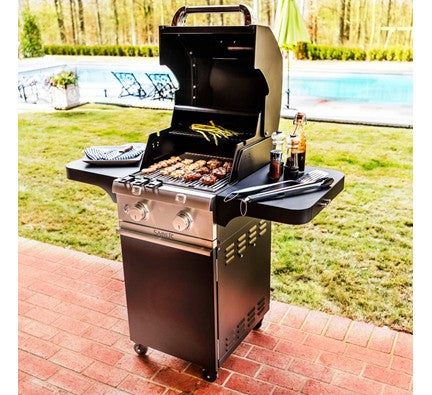 Saber Cast Black 2-Burner Gas Grill is available in our Jacobs Custom Living Spokane Valley showroom.