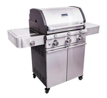 Saber Cast Stainless 3-Burner Gas Grill is available in our Jacobs Custom Living Spokane Valley showroom.
