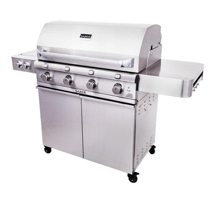 Saber Stainless Steel 4-Burner Gas Grill is available in our Jacobs Custom Living Spokane Valley showroom.