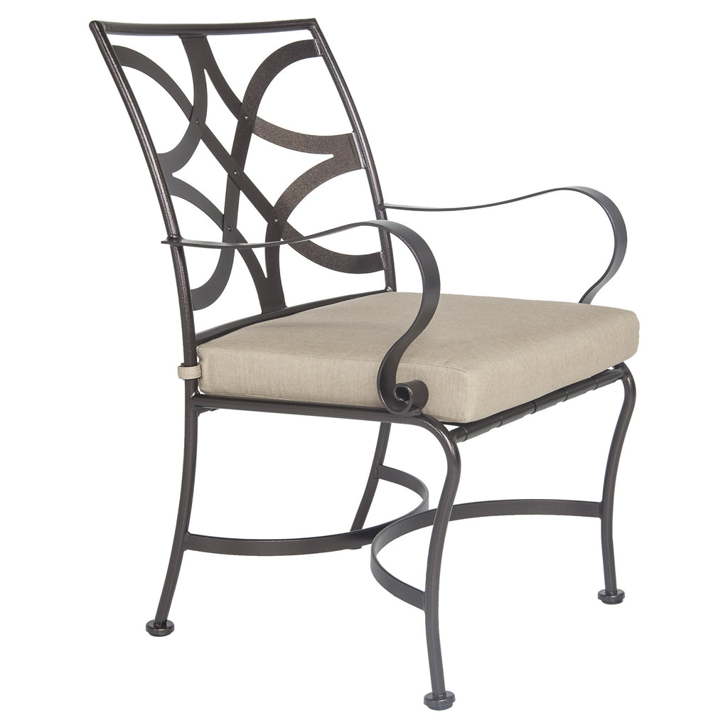 O.W. Lee's Marquette Outdoor Patio Dining Arm Chair is available at Jacobs Custom Living.