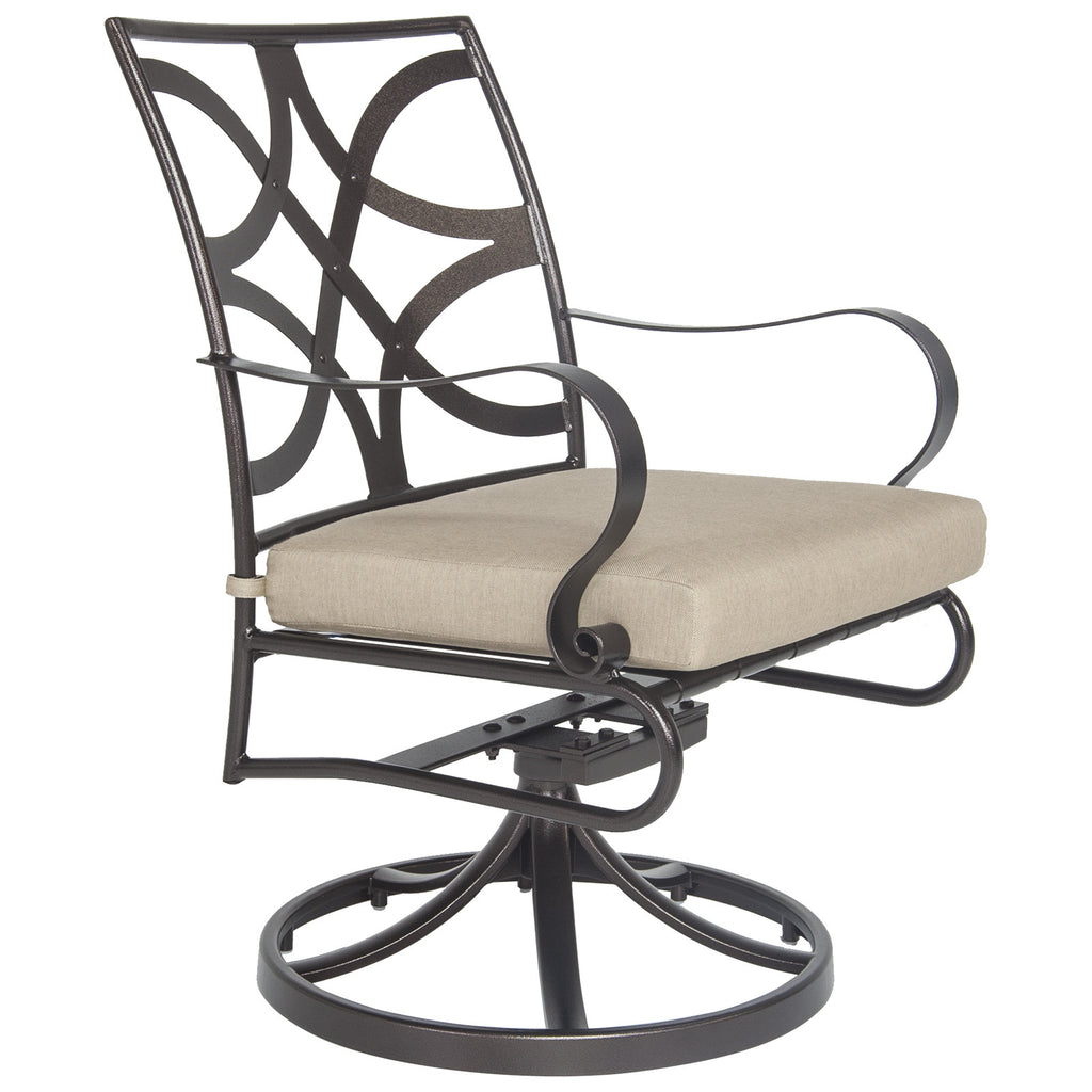 O.W. Lee's Marquette Outdoor Patio Swivel Rocker Dining Arm Chair is available at Jacobs Custom Living.