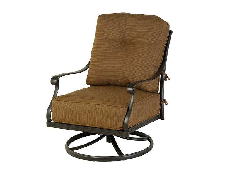 Mayfair Outdoor Patio Estate Club Swivel Rocker