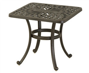 "Mayfair 24"" Outddoor Patio Square End Table"