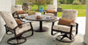 Belle Isle Outdoor Patio Cushion Swivel Rocker With Color Accents - Outdoor Furniture, Indoor Furniture & Upholstery Store Spokane - Jacobs Custom Living