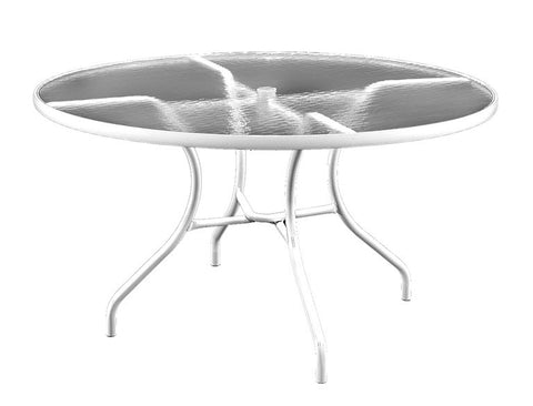 "48"" Glass Outdoor Patio Table"