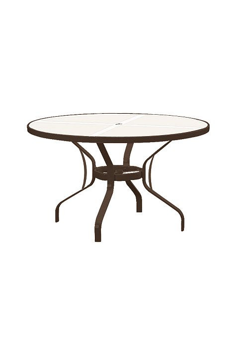 "Obscure Glass 48"" Outdoor Patio Round Dining Umbrella Table"