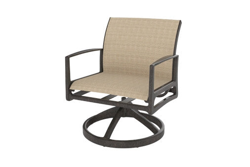 Phoenix Outdoor Patio Sling Swivel Rocking Lounge Chair