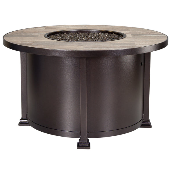 "O.W. Lee Santorini Outdoor Patio 42"" Round Chat Height Fire Table is available at Jacobs Custom Living."