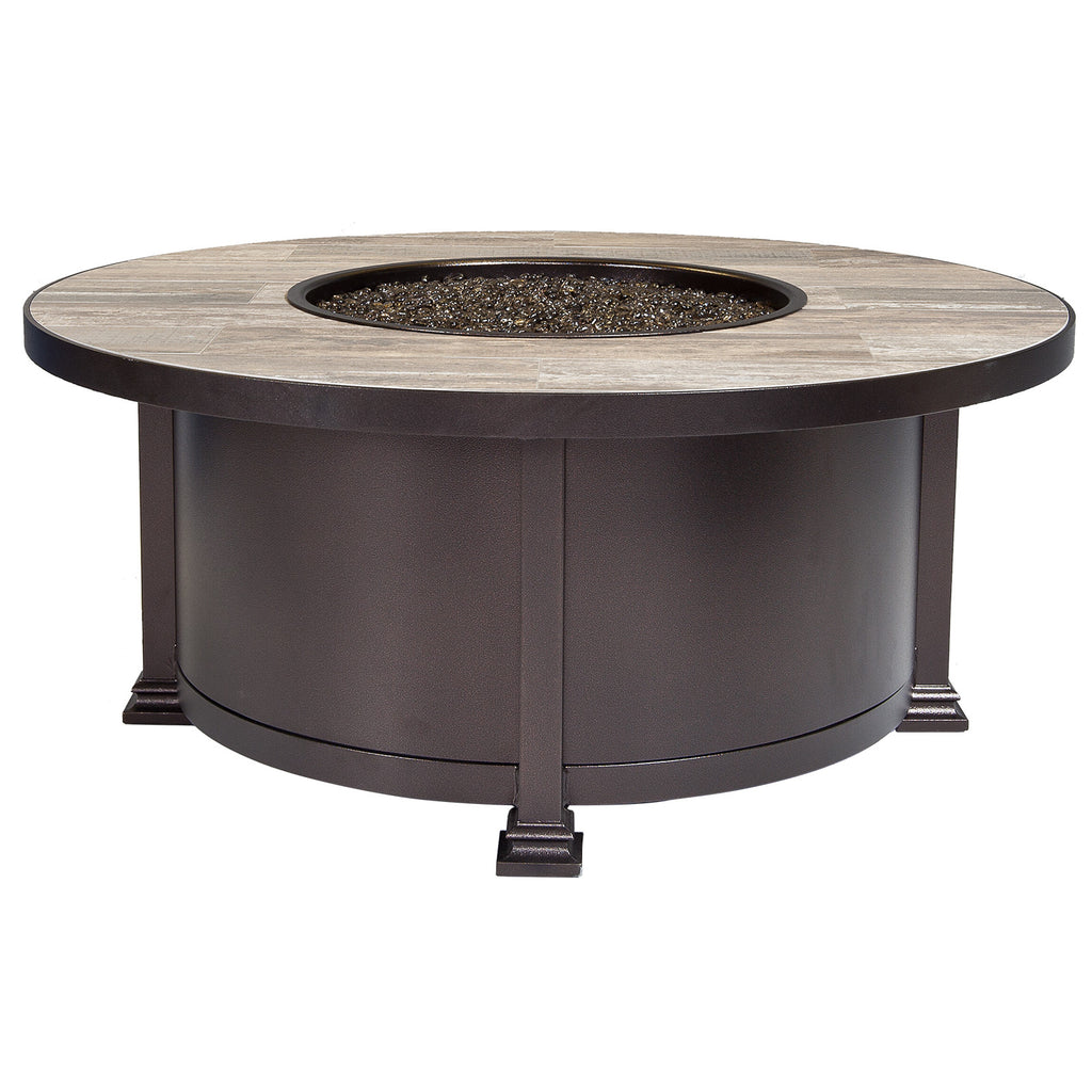 "O.W. Lee Santorini Outdoor Patio 42"" Round Fire Table is available at Jacobs Custom Living."