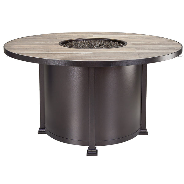 "O.W. Lee Santorini Outdoor Patio 54"" Dining Height Fire Pit is available at Jacobs Custom Living."
