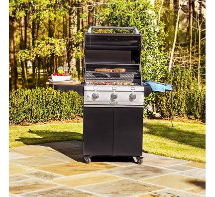 Saber Cast Black 3-Burner Gas Grill is available in our Jacobs Custom Living Spokane Valley showroom.