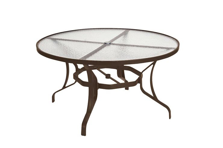 "Tropitone Obscure Glass 54"" Round Dining Umbrella Table is available at Jacobs Custom Living in Spokane WA"