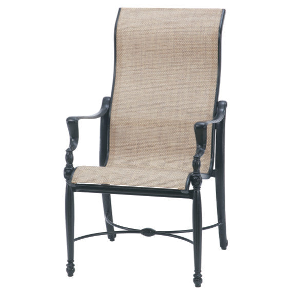Bel Air Sling High Back Outdoor Patio Dining Arm Chair - Outdoor Furniture, Indoor Furniture & Upholstery Store Spokane - Jacobs Custom Living