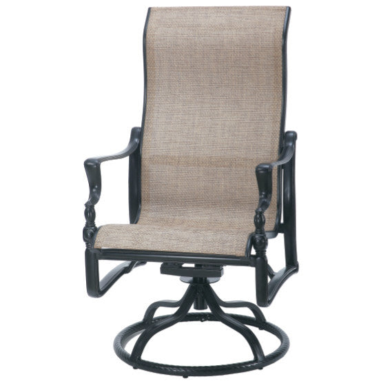 Bel Air Sling High Back Outdoor Patio Swivel Rocker - Outdoor Furniture, Indoor Furniture & Upholstery Store Spokane - Jacobs Custom Living
