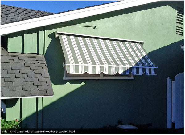 Robusta Heavy Duty Retractable Window Awning is available at Jacobs Custom Living our Jacobs Custom Living Spokane Valley showroom.