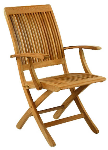 Monterey Outdoor Folding Folding Arm Chair