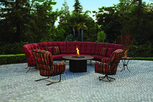 O.W. Lee Monterra Outdoor Patio Left Sectional Piece is available at Jacobs Custom Living.
