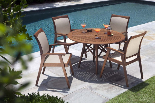 "Opal 48"" Round Dining Outdoor Patio Table"