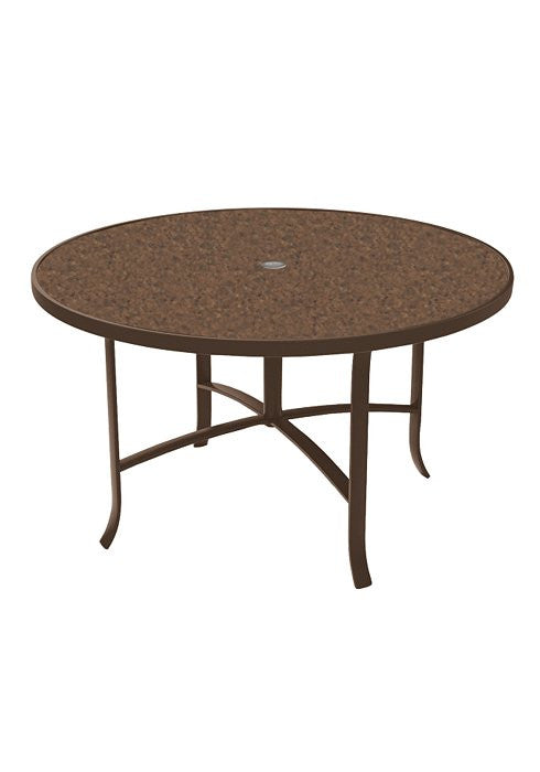 "Raduno 48"" Outdoor Patio Round Dining Umbrella Table"