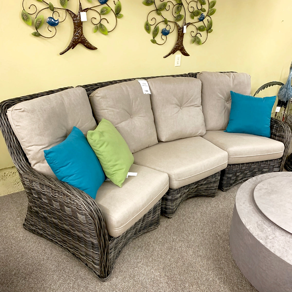 West Hampton Patio Sectional is available at Jacobs Custom Living our Jacobs Custom Living Spokane Valley showroom.
