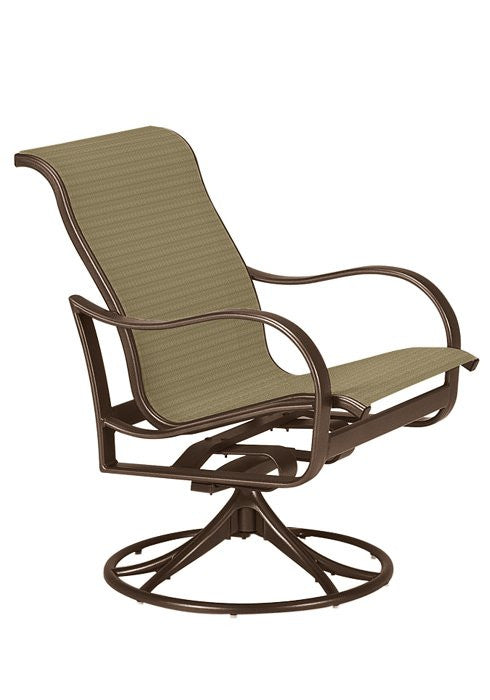 Tropitone Shoreline Sling Swivel Rocker is available at Jacobs Custom Living in Spokane Valley WA