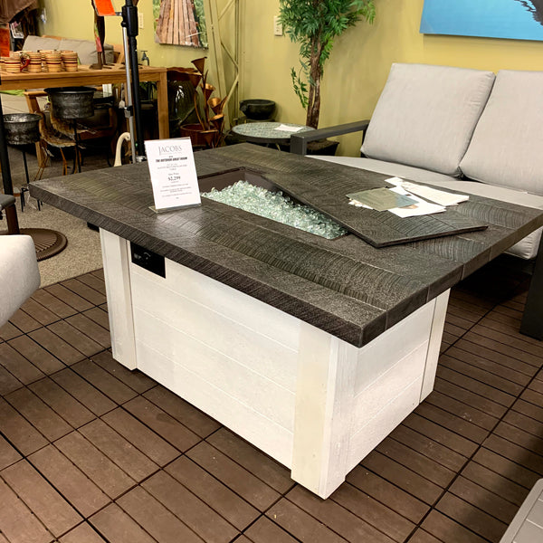 Alcott gas fire pit table at Jacobs Custom Living Spokane WA
