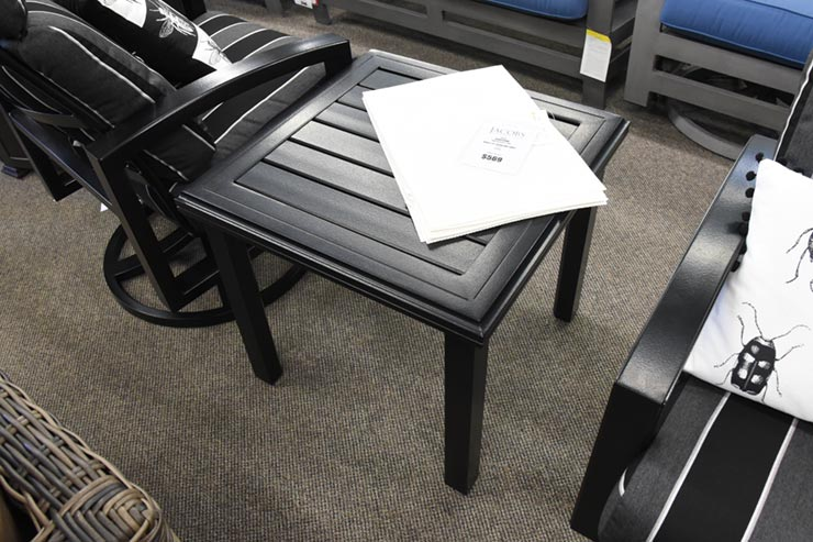 "Tropitone Amici 24"" Square End Table is available in our Jacobs Custom Living Spokane Valley WA Showroom."