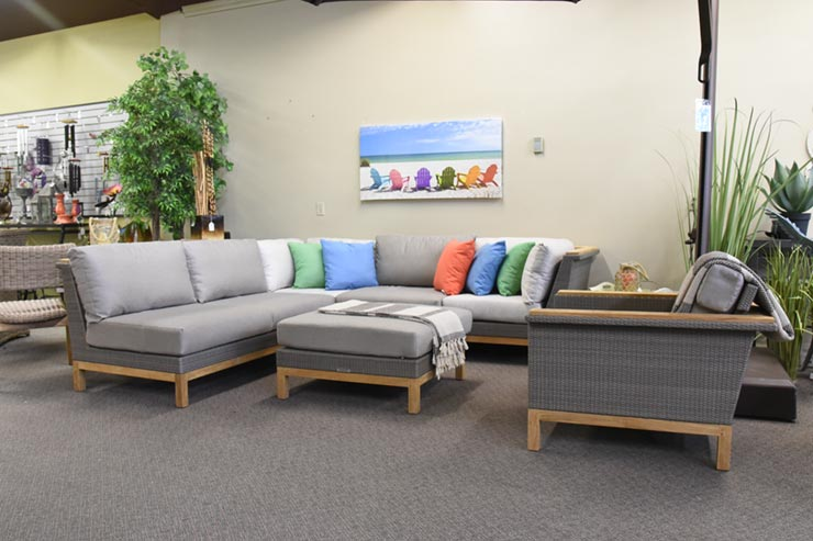 Kingsley Bate's Azores Patio Sectional is available at Jacobs Custom Living in Spokane WA.