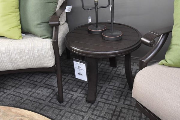"Tropitone Banchetto 24"" Round Tea Table is available in our Jacobs Custom Living Spokane Valley WA Showroom."