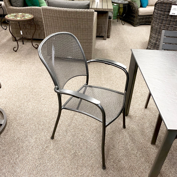 The Kettler Carlo Patio Dining Arm Chair is available at Jacobs Custom Living Spokane Valley showroom.