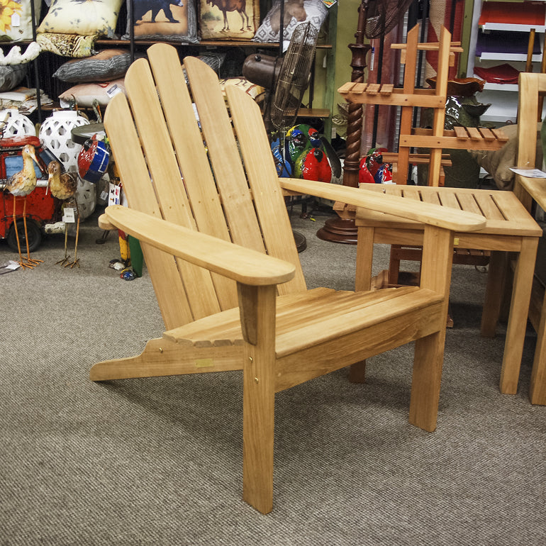 Kingsley-Bate Teak Patio Adirondack Chair AK25 - Outdoor Furniture, Indoor Furniture & Upholstery Store Spokane - Jacobs Custom Living