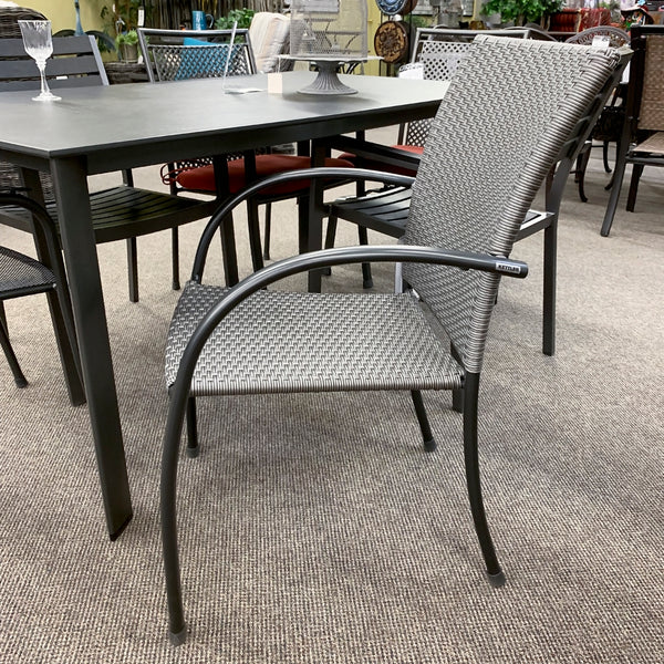 Kettler Pilano Outdoor Patio Dining Arm Chair is available in our Jacobs Custom Living Spokane Valley Showroom.