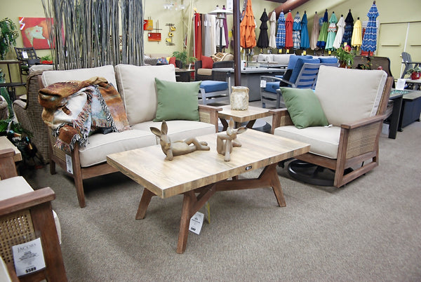 Kingston Nantucket Eucalyptus Coffee Table is available in our Jacobs Custom Living Spokane Valley showroom.