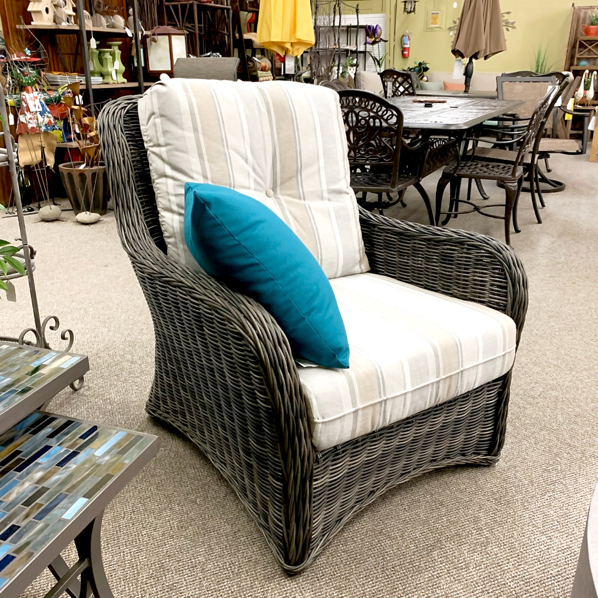 West Hampton Patio Lounge Chair is available at Jacobs Custom Living our Jacobs Custom Living Spokane Valley showroom.
