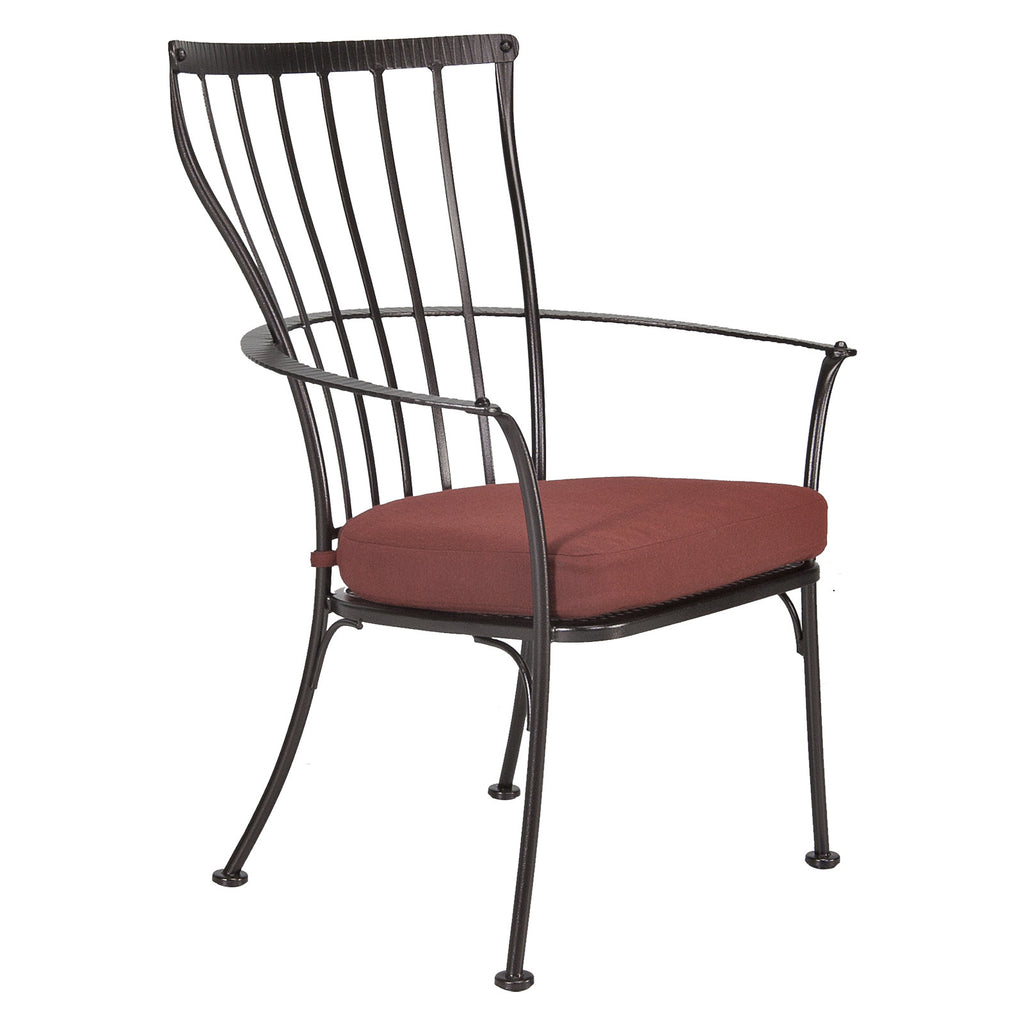 O.W. Lee Monterra Outdoor Patio Dining Arm Chair is available at Jacobs Custom Living.