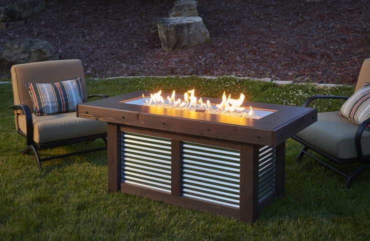 denali brew linear fire pit table at jacobs custom living spokane wa