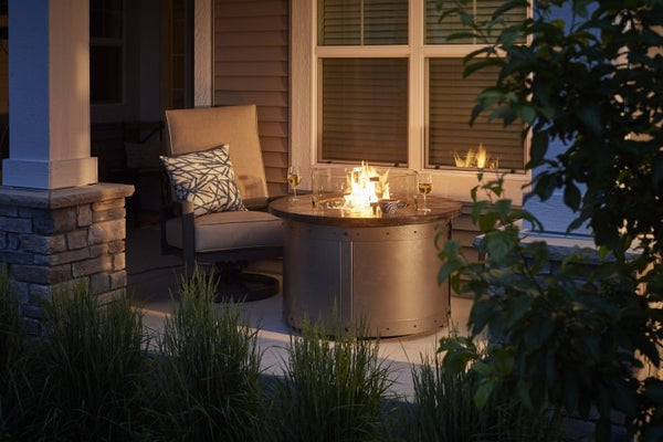 Edison round fire pit table at jacobs custom living spokane wa