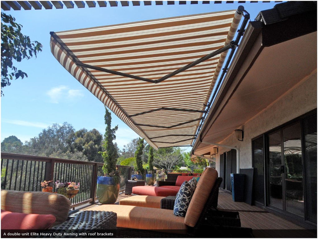 Elite Heavy Duty Retractable Patio Awning is available at Jacobs Custom Living our Jacobs Custom Living Spokane Valley showroom.