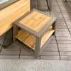 IndoSoul St. Lucia Outdoor End Table in our Jacobs Custom Living Spokane Valley showroom.