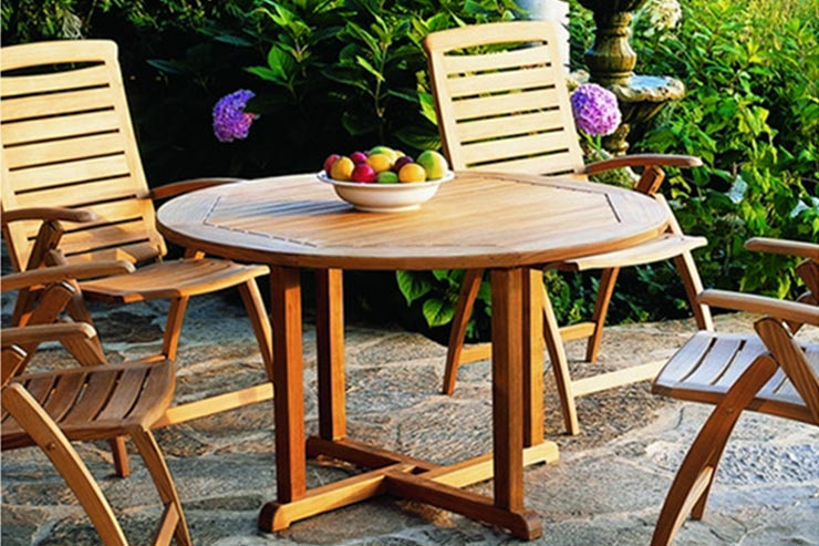"Kingsley-Bate Essex Patio 36"" Patio Round Dining Table is available in our Jacobs Custom Living Spokane Valley Showroom."