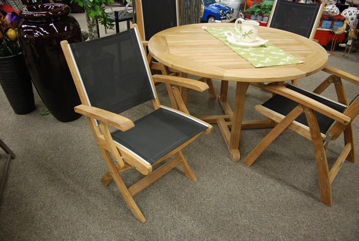 "Kingsley-Bate Essex Patio 50"" Patio Round Dining Table is available in our Jacobs Custom Living Spokane Valley Showroom."