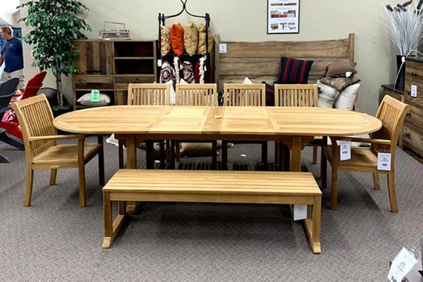 Kingsley Bate's Essex TR 114 Patio Dining Table is available at Jacobs Custom Living in Spokane WA.