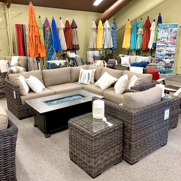 Greenville Patio Sectional is available at Jacobs Custom Living our Jacobs Custom Living Spokane Valley showroom.