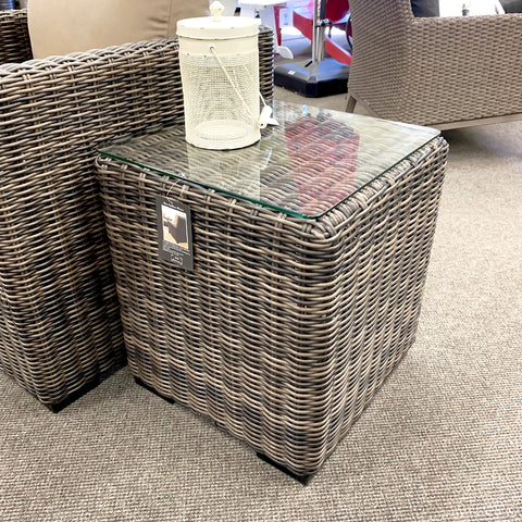 Greenville Square Patio End Table is available at Jacobs Custom Living our Jacobs Custom Living Spokane Valley showroom.
